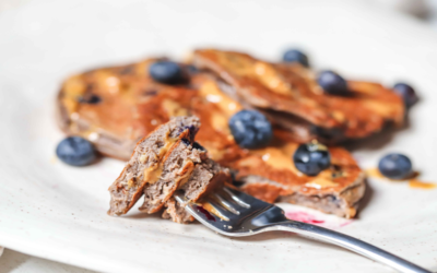 High Protein Blueberry Pancakes