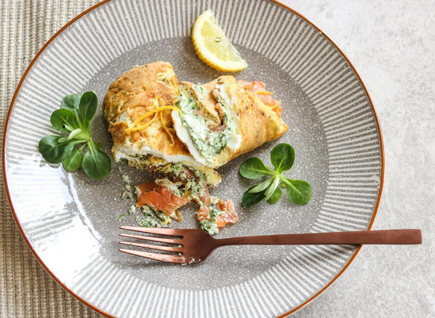 Salmon Omelette Wraps