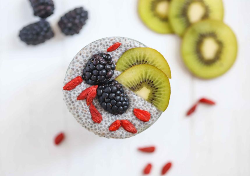 Kiwi Chia Protein Pudding