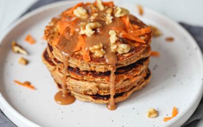 Carrot Pancakes with Almond Caramel
